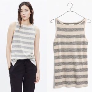 Madewell Linen striped Tank
